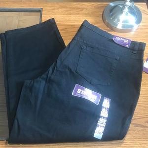 Gloria Vanderbilt black jeans 22W petite NWT